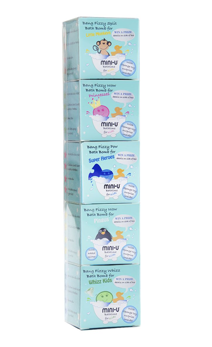 5 Pack Bath Bomb Gift Box Mini U