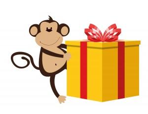 Monkey and gift-01